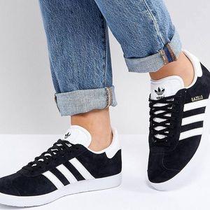 Adidas black suede gazelle 7 37 sneaker